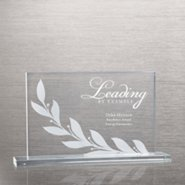 Etched Glass Award - Laurel